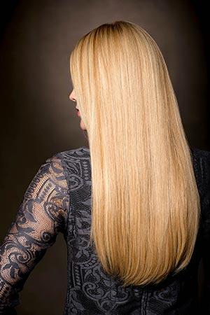 Haarverlängerung Rückseite