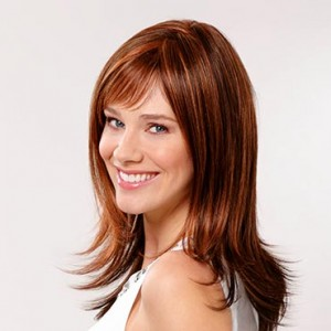 Parrucca marrone - rosso